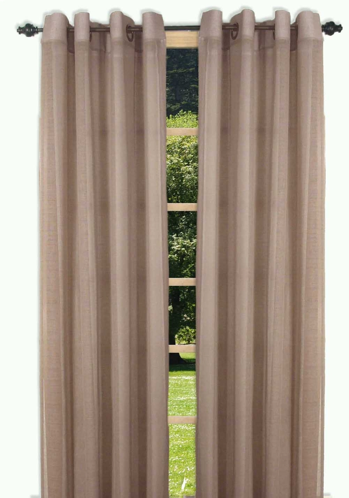 Bal Harbour Semi Sheer Grommet Curtain Panel