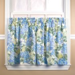 Hydrangea Tier Curtain Pair