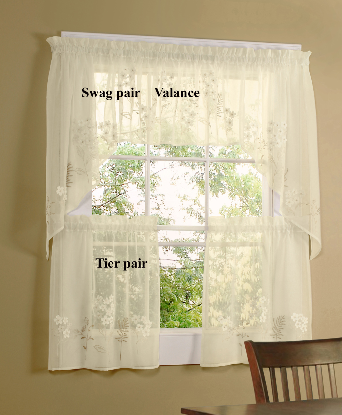 swag curtains for kitchen wood cabinets designer thecurtainshop com
