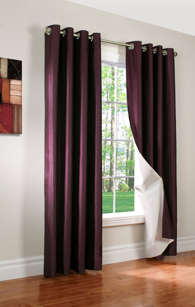 Miller Faux Silk Insulated Grommet Panel  Thermalogic
