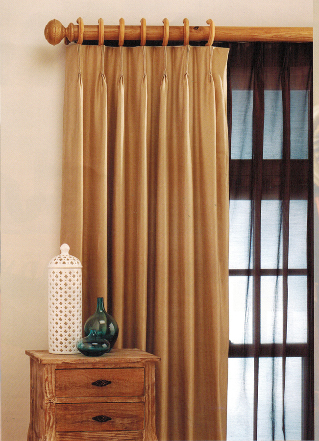 Flame Retardant Pinch Pleated Drapery CUSTOM Pleats Up 40 To 54 Wide
