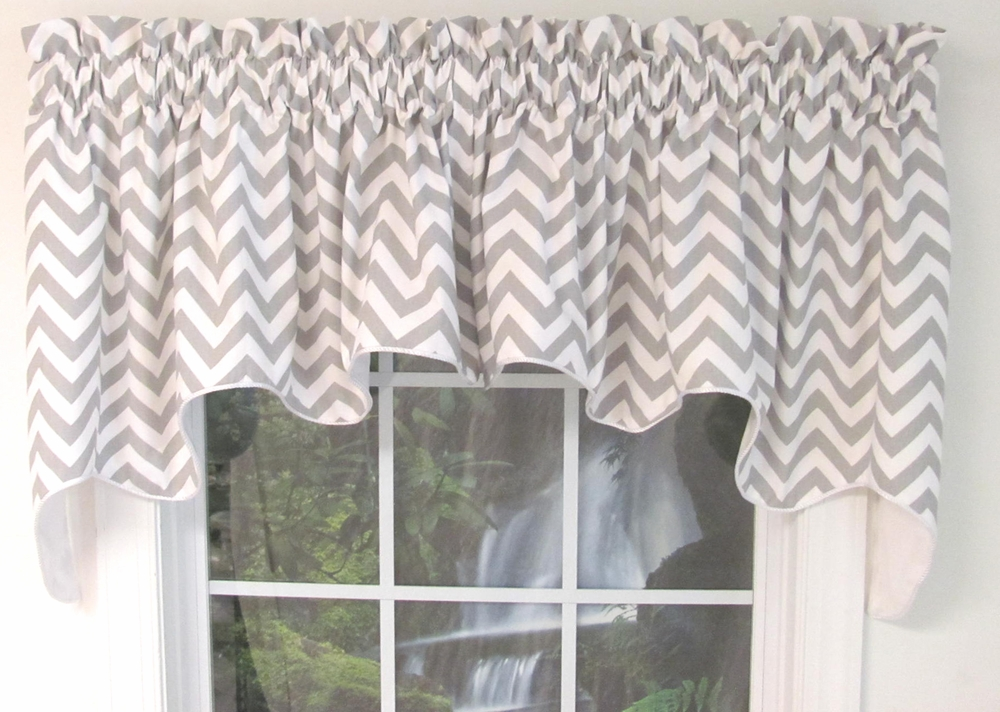 Reston Duchess Valance Chevron  TheCurtainShopcom