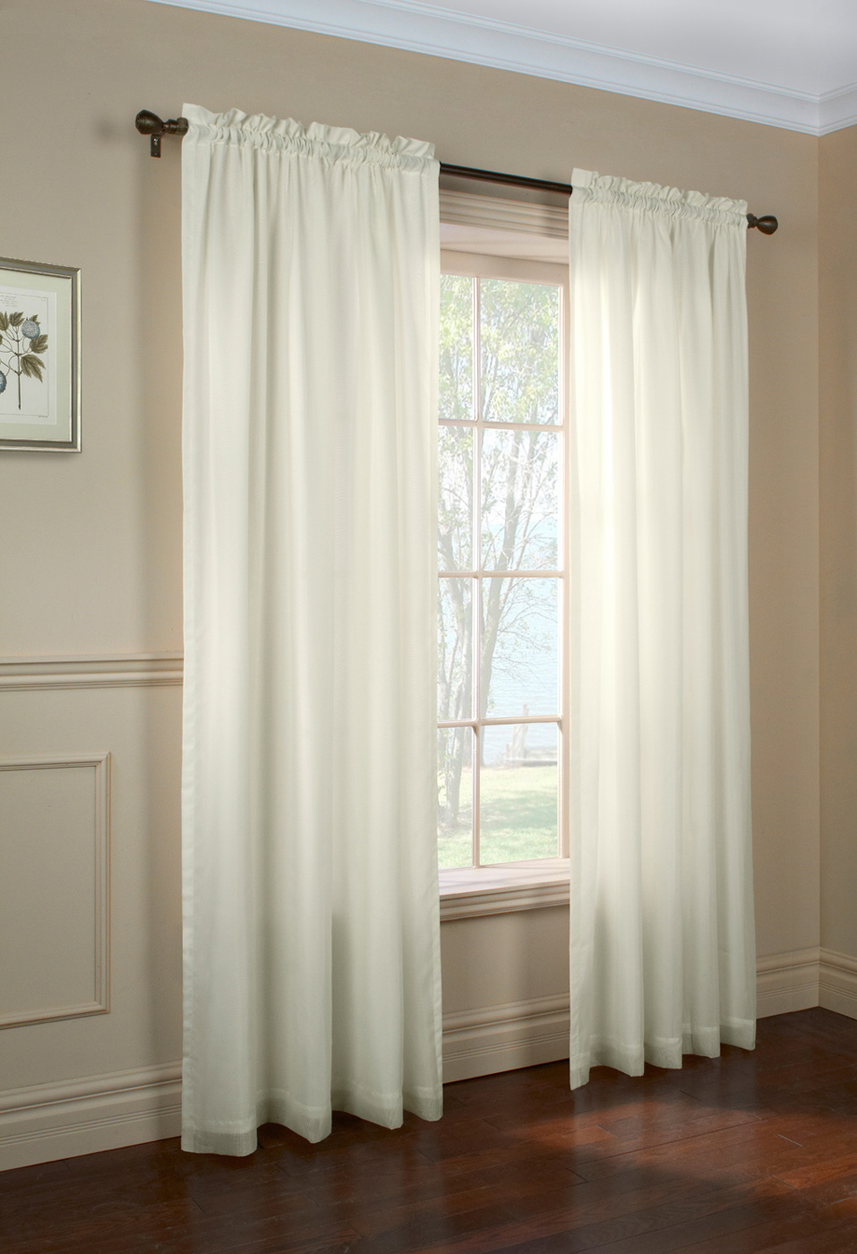 Rhapsody Sheer Voile Curtain Panels