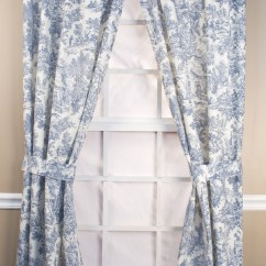 Country Chair Pads Purple Banquet Covers Victoria Park Toile Tailored Curtain Panel Pairs With Ties