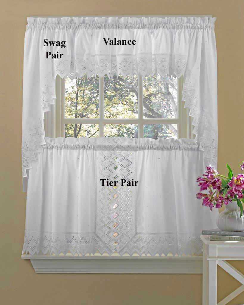 kitchen curtians mdf cabinets nouveau embroidered tier curtains
