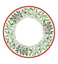 Christmas Paper Plates and Napkins