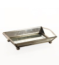 Mirrored Vanity Tray & Other Mirrored Bathroom Accessories