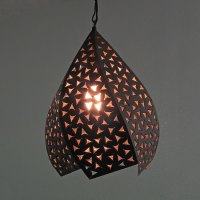 Punched Tin Hanging Light Fixtures