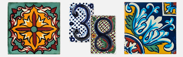 mexican talavera tile hand painted