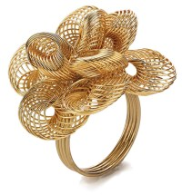 Bodrum Aria Gold Napkin Rings 4 Pack
