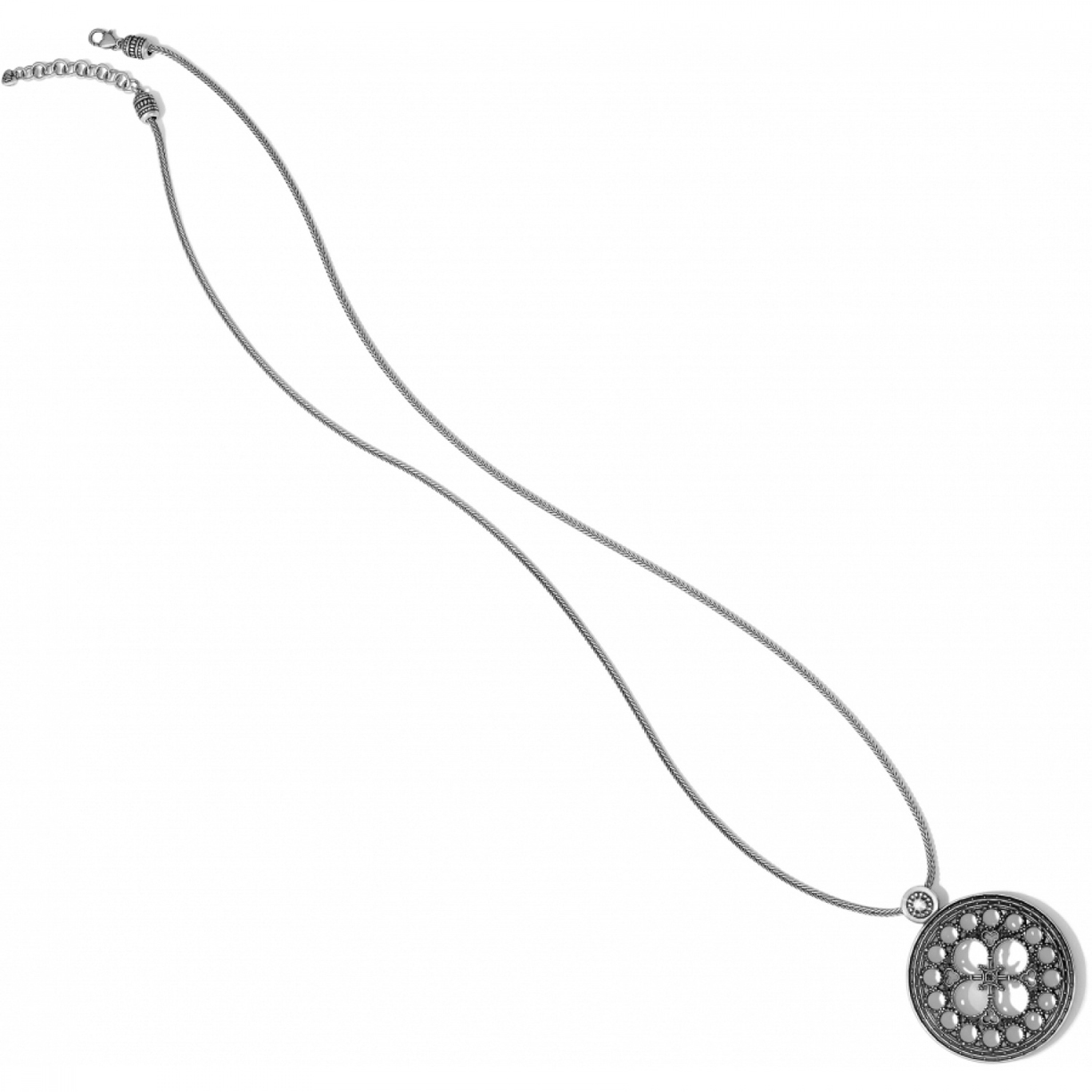 Brighton Silver Basilica Long Necklace