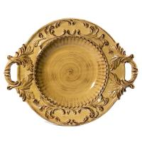Intrada Italy Baroque Honey Round Shallow Bowl with ...