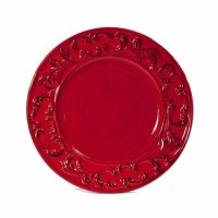 Intrada Italy Baroque Red Dinner Plates (4)