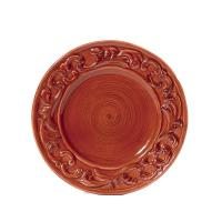 "Intrada Italy Baroque Salad Plate Paprika 8.5""D Set of 4"