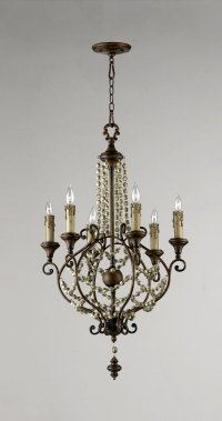 Meriel 6 Light Iron Chandelier by Cyan Design