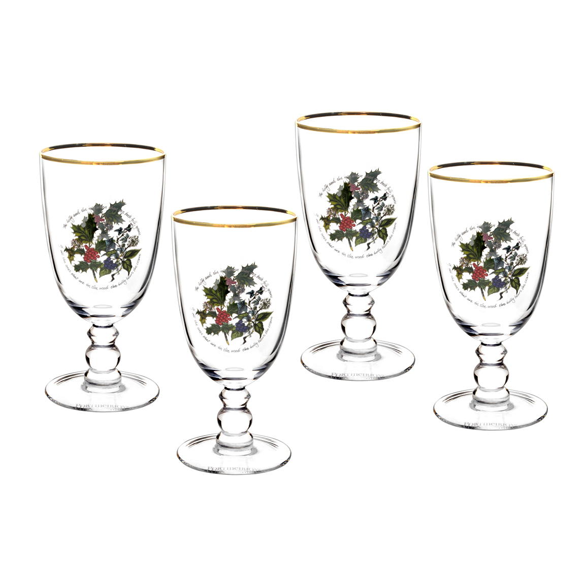 Portmeirion Holly Amp Ivy Set Of 4 Goblets 39 99 You Save