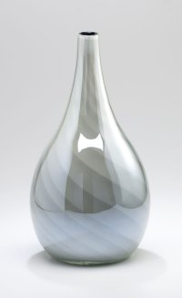 Small Petra White Glass Vase by Cyan Design