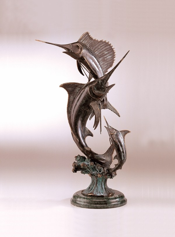 Grand Slam Marlin & Sailfish Sculpture Spi Home 583