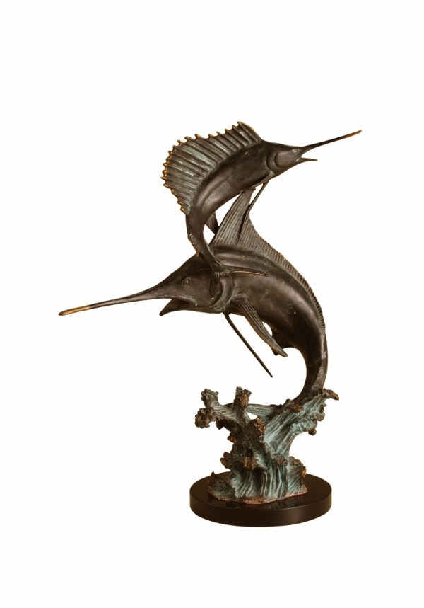 Two Bills Marlin & Sailfish Sculpture Spi Home 291