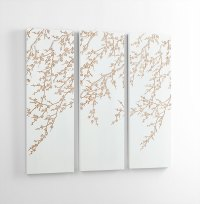 White Cherry Blossom Wall Art by Cyan Design