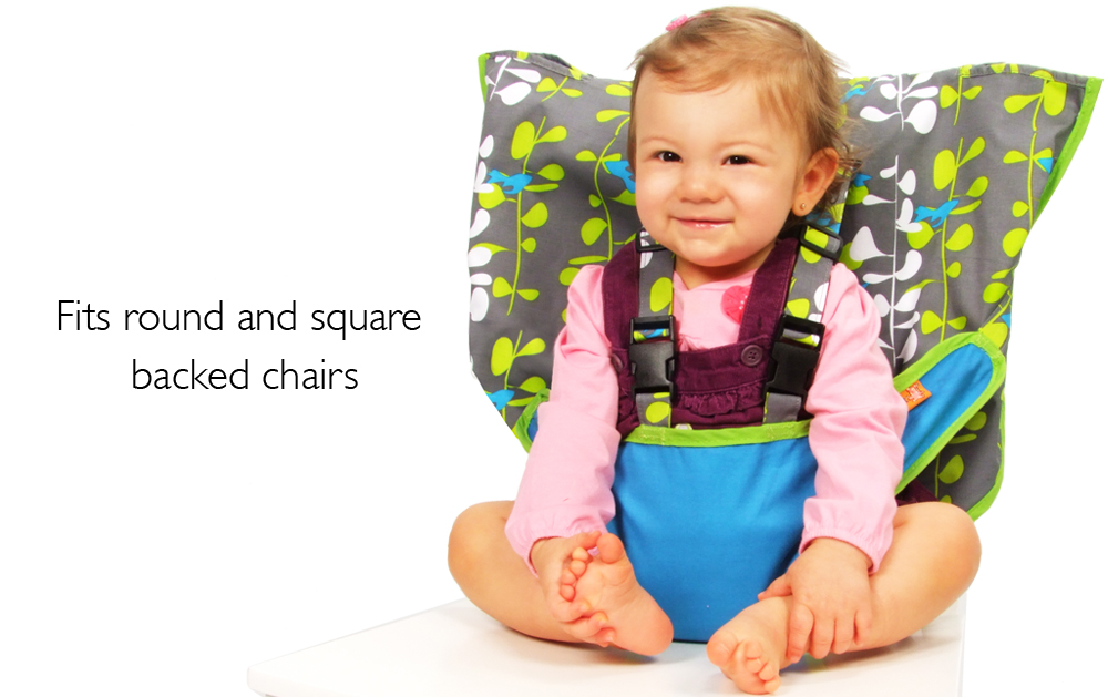 seat high chair with long back my little travel highchair blue fish baby