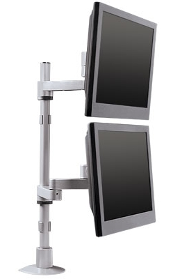 Dual Vertical Monitor Stand  Innovative 9112DFM  LCD