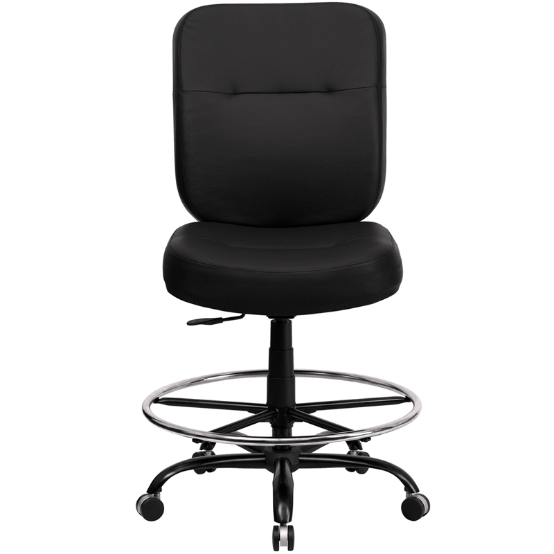 hercules big and tall drafting chair farm house chairs ergonomic home black leather