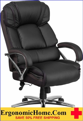ergonomic chair under 500 living room swivel chairs home tough enough series lb capacity big tall black leather executive