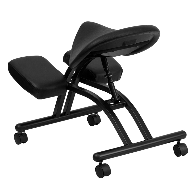 saddle seat chairs reviews fisher price chair ergonomic kneeling with black