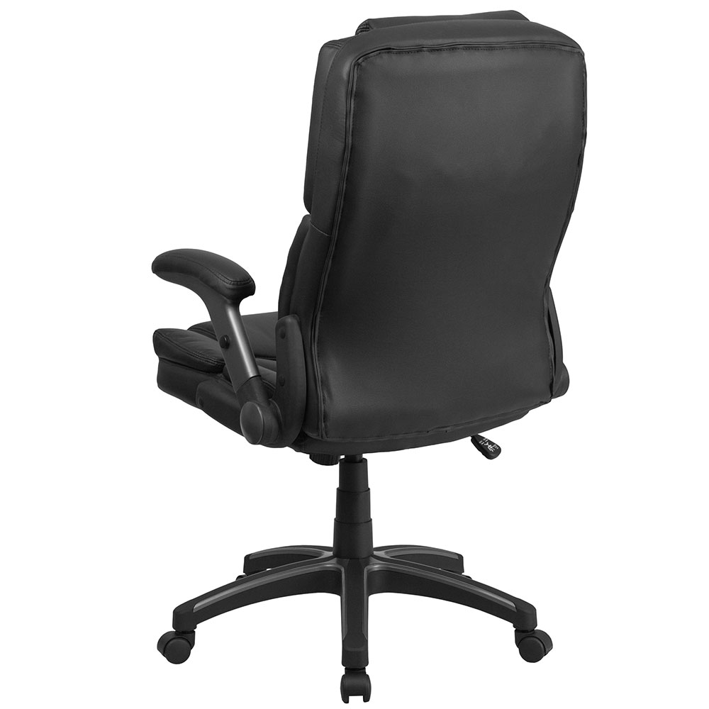 chair mesh stool back covers for dining room chairs ergonomic home extreme comfort high black leather executive swivel office with flip ...