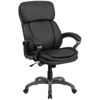 Ergonomic Home High Back Black Leather Executive Swivel ...