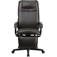Ergonomic Home High Back Brown Leather Executive Reclining ...