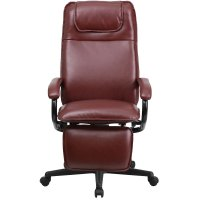 Ergonomic Home High Back Burgundy Leather Executive ...