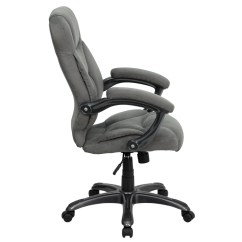 Microfiber Office Chair Raise Height Ergonomic Home High Back Gray Contemporary Executive Swivel 50 Off Read More Below