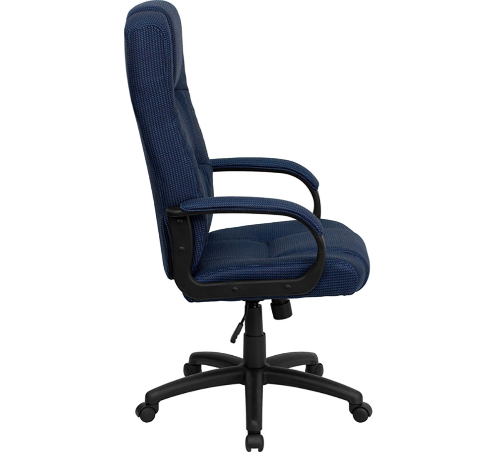 ergonomic drafting chair with arms bedroom reading nook home high back navy blue fabric executive swivel office