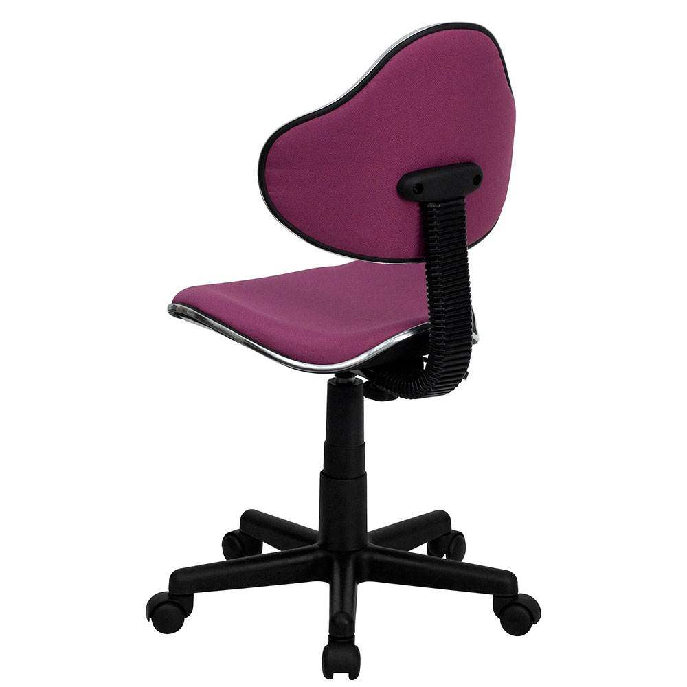 Ergonomic Home Lavender Fabric Ergonomic Swivel Task Chair