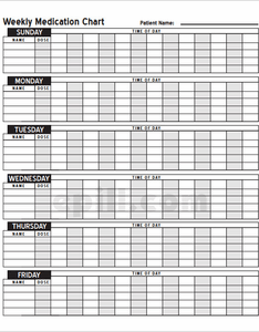 also free weekly medication chart to print rh epill