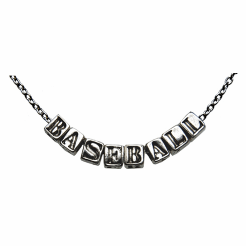 Silver Baseball Letter Necklace LESS THAN 3 LEFT!