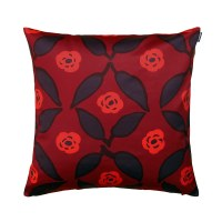 Marimekko Poppy Red / Plum Throw Pillow - 50% Off Or More!