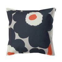 Marimekko Unikko Dark Grey Throw Pillow - 50% Off Or More!