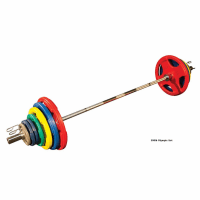 Rubber Plate Weight Set & 300 Lb Olympic Weight Set. Xmark ...