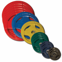 Body Solid Colored Rubber Olympic Weight Plate Set - 455lbs