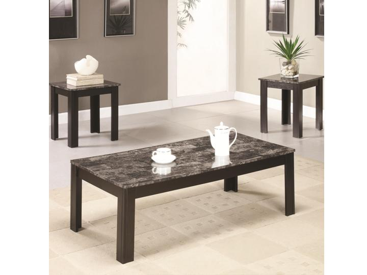 Modern 3 PCS Marble Top Table Coffee Sets DC Furniture Stores