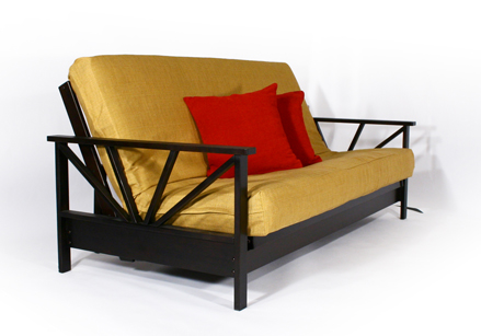 Modern Arial Wall Hugger Made In USA Full Size Futon Frame