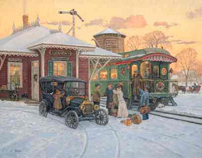 Lee Stroncek Limited Edition Print Home For Christmas