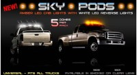 Truck Cab Roof Lights - LED Sky Pods Cab Lights (Smoked ...