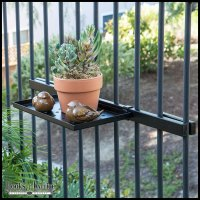 16in. Balcony Railing Shelf with Mounting Bracket