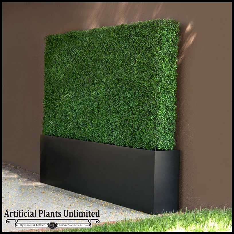 Boxwood Outdoor Artificial Hedges With Modern Planters