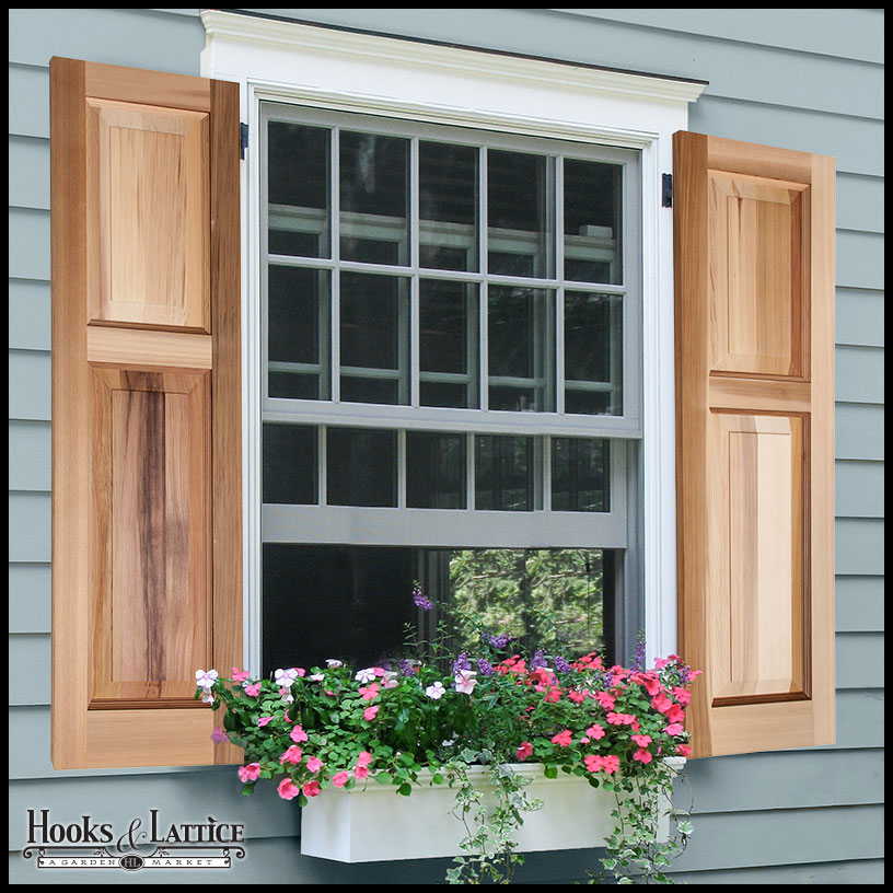 Cedar Shutters  Wood Raised Panel Shutters  Custom Sizes