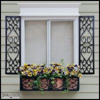 Aluminum Decorative Exterior Shutters - Hooks & Lattice